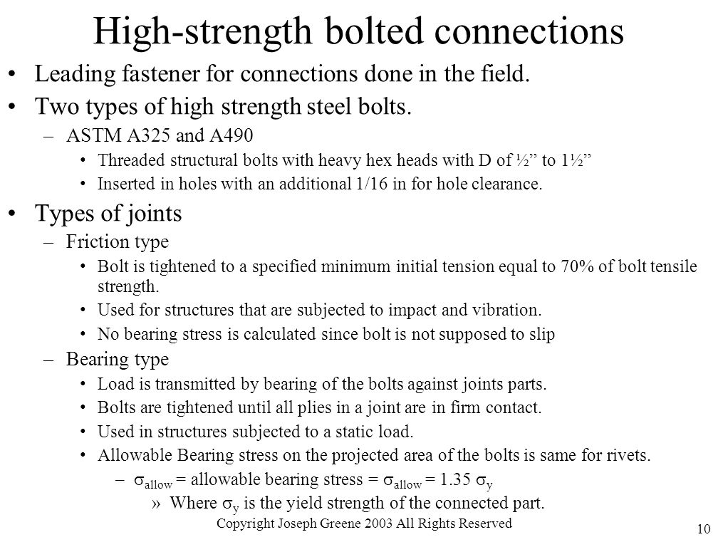 High-strength bolted connections