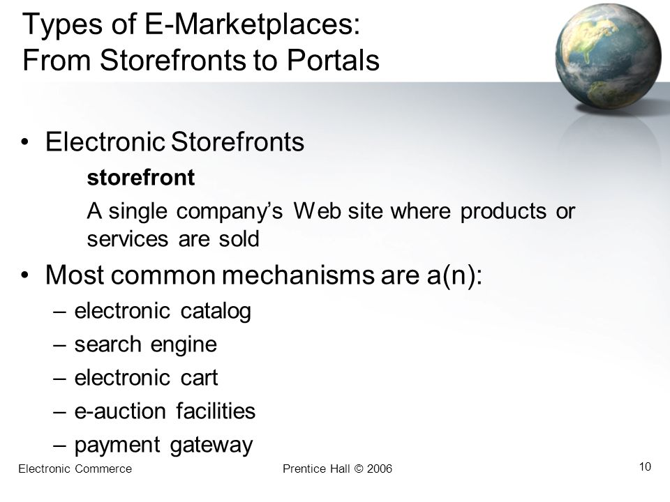 Types of E-Marketplaces: From Storefronts to Portals