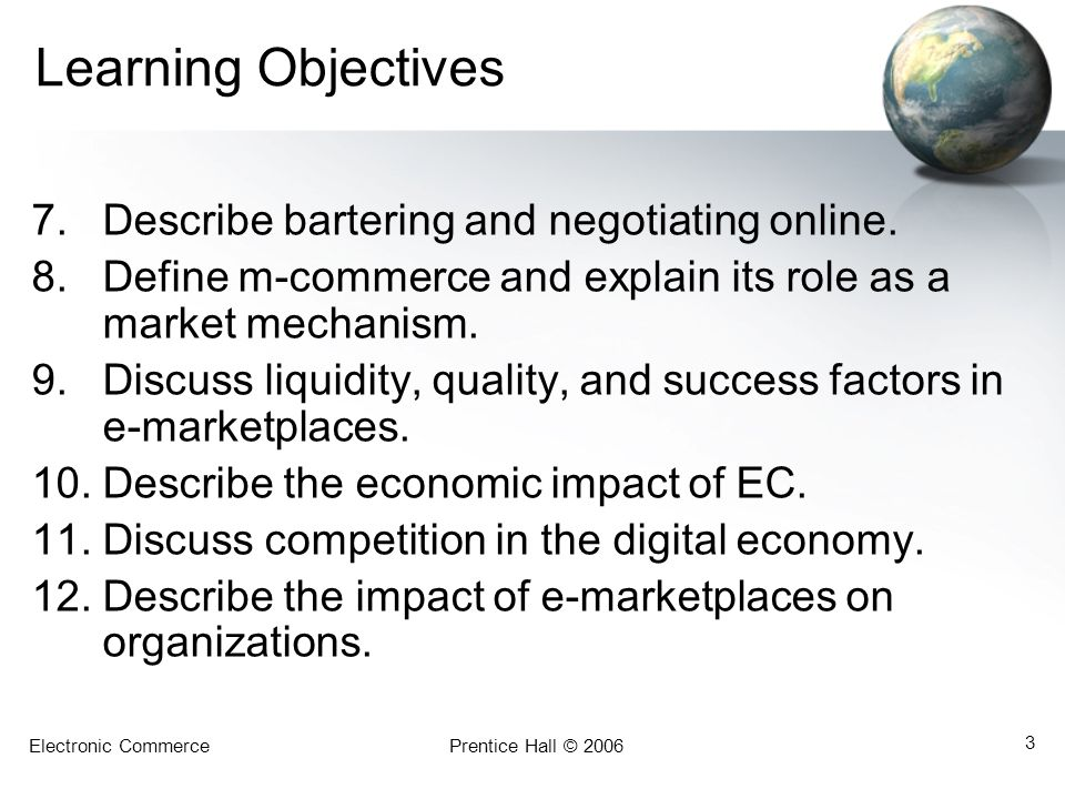 Learning Objectives Describe bartering and negotiating online.