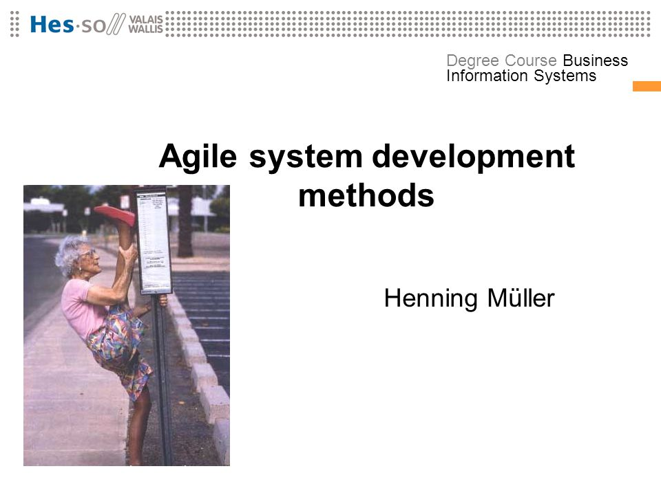 Agile system development methods