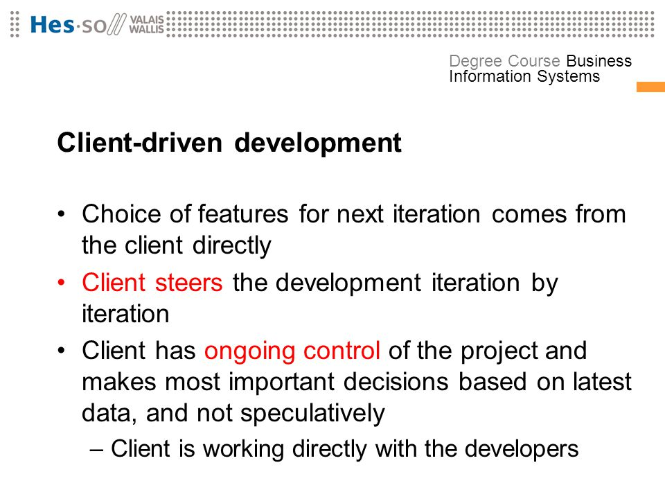 Client-driven development