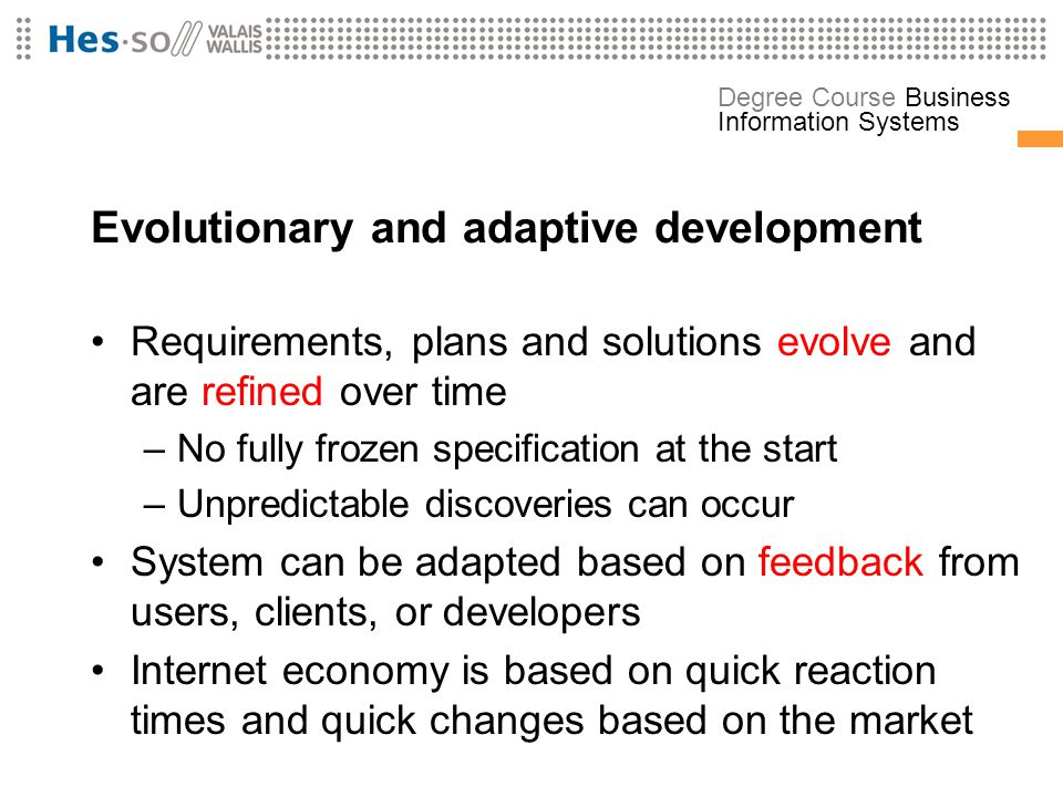 Evolutionary and adaptive development