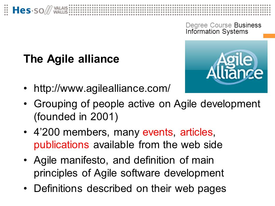 The Agile alliance