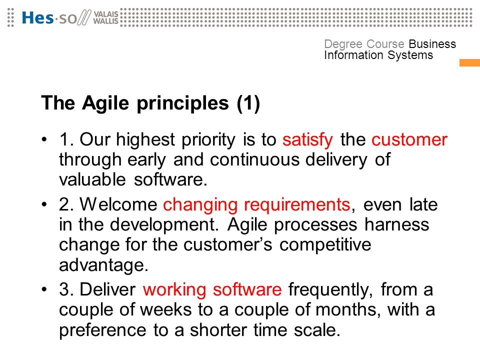 The Agile principles (1)
