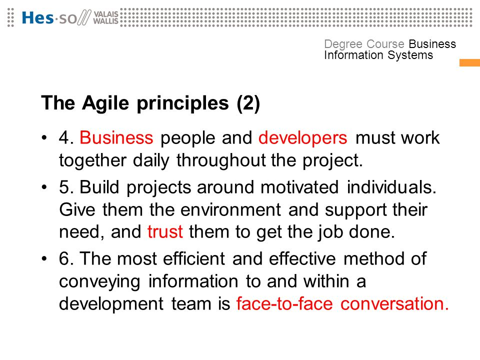 The Agile principles (2)