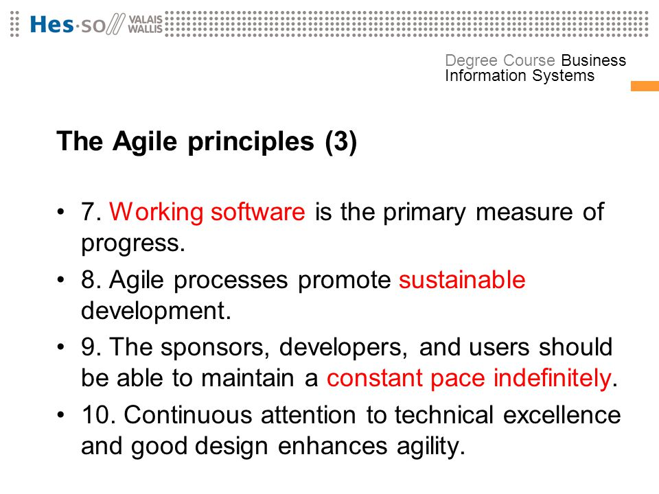 The Agile principles (3)