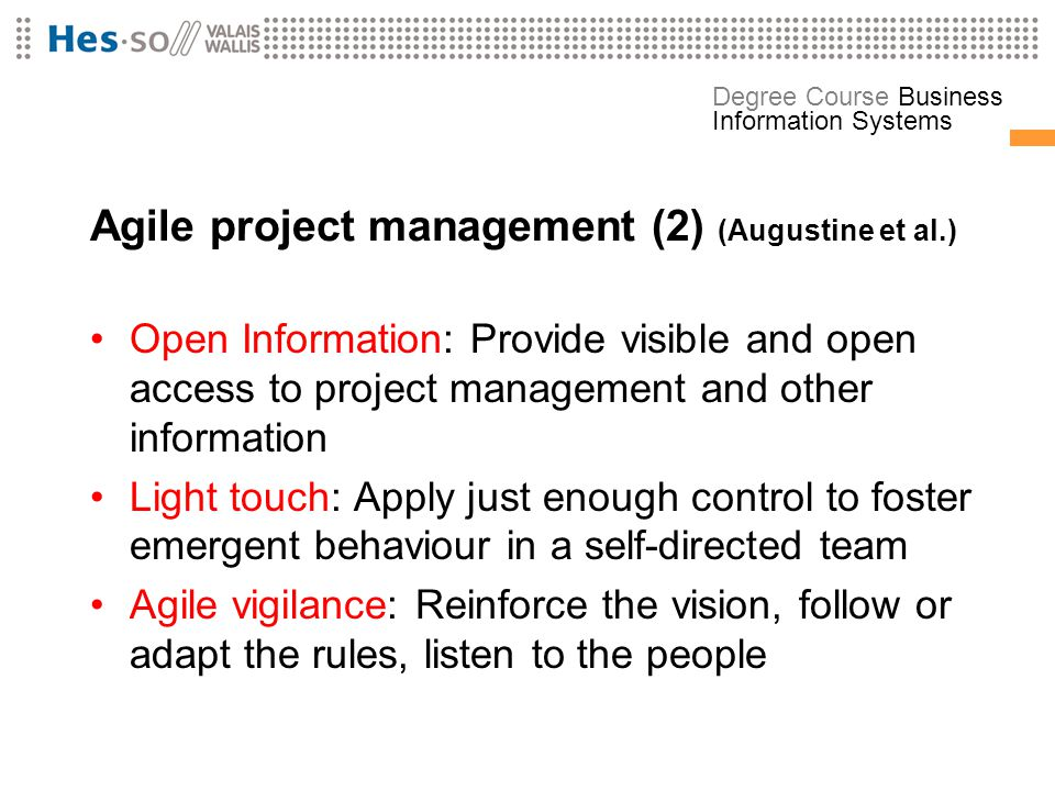 Agile project management (2) (Augustine et al.)