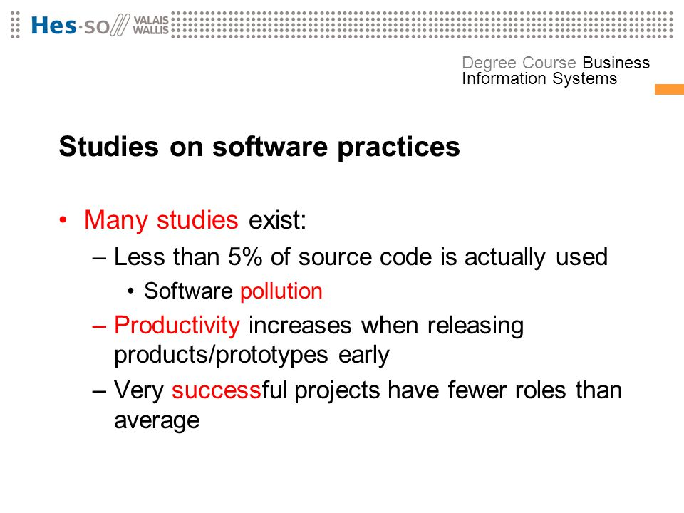 Studies on software practices