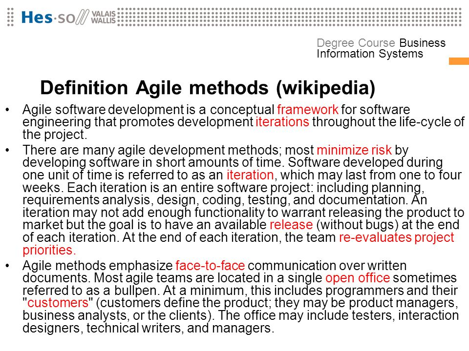 Definition Agile methods (wikipedia)