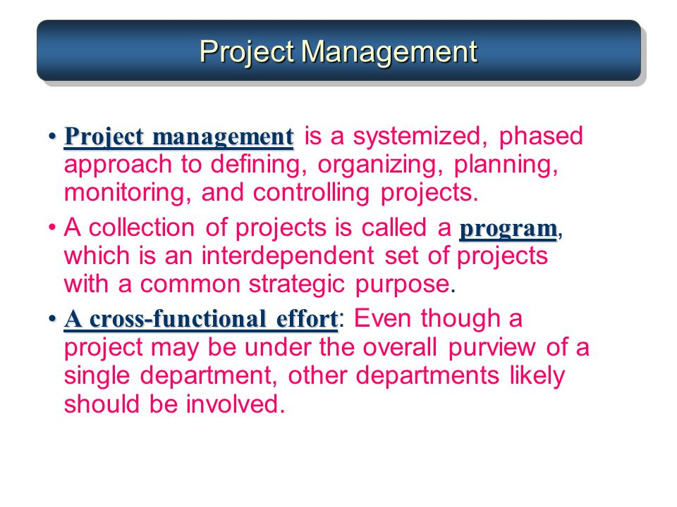 project management is a structured approach to planning and controlling projects With a practical approach to project management  to structured project management which  and controlling next to these project management.