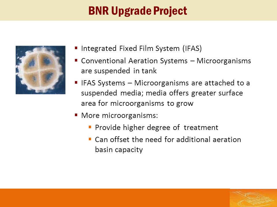 BNR Upgrade Project Integrated Fixed Film System (IFAS)