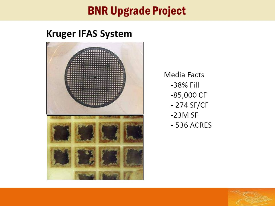 BNR Upgrade Project Kruger IFAS System Media Facts -38% Fill