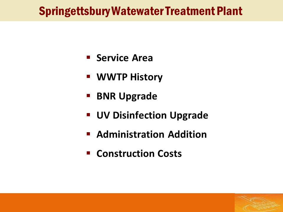 Springettsbury Watewater Treatment Plant