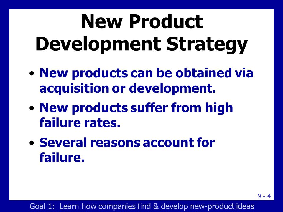 Learning goals learn how companies find and develop new for Product development companies