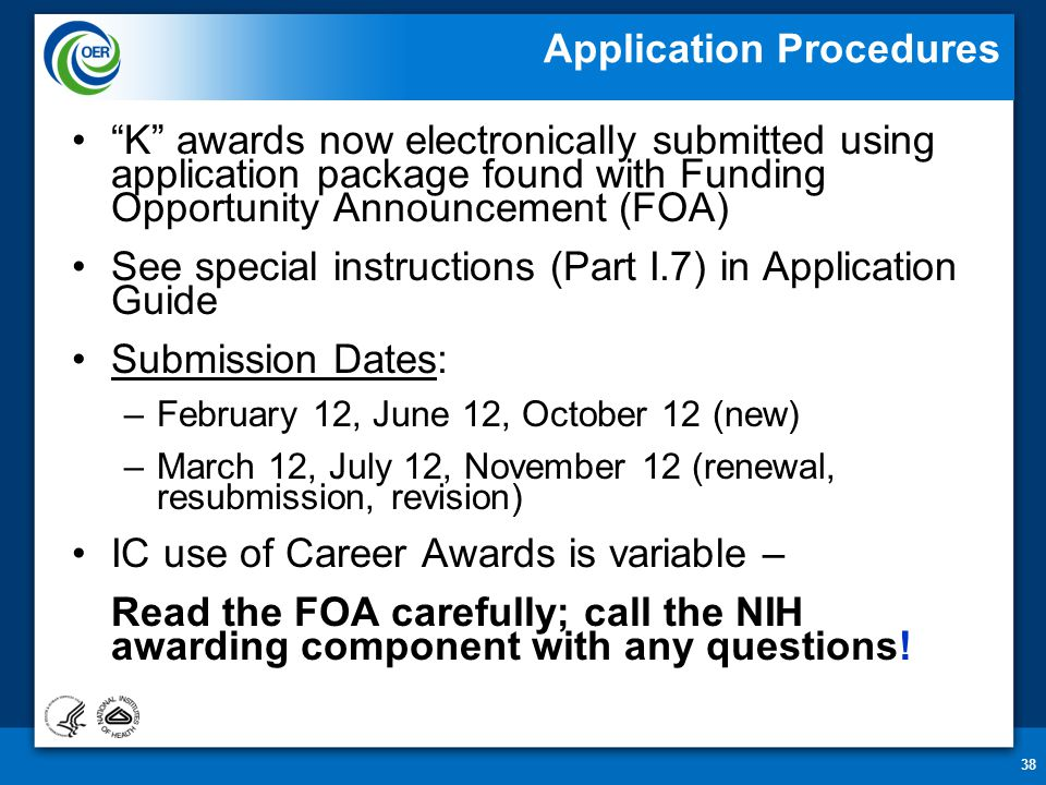 Nih submission dates in Sydney