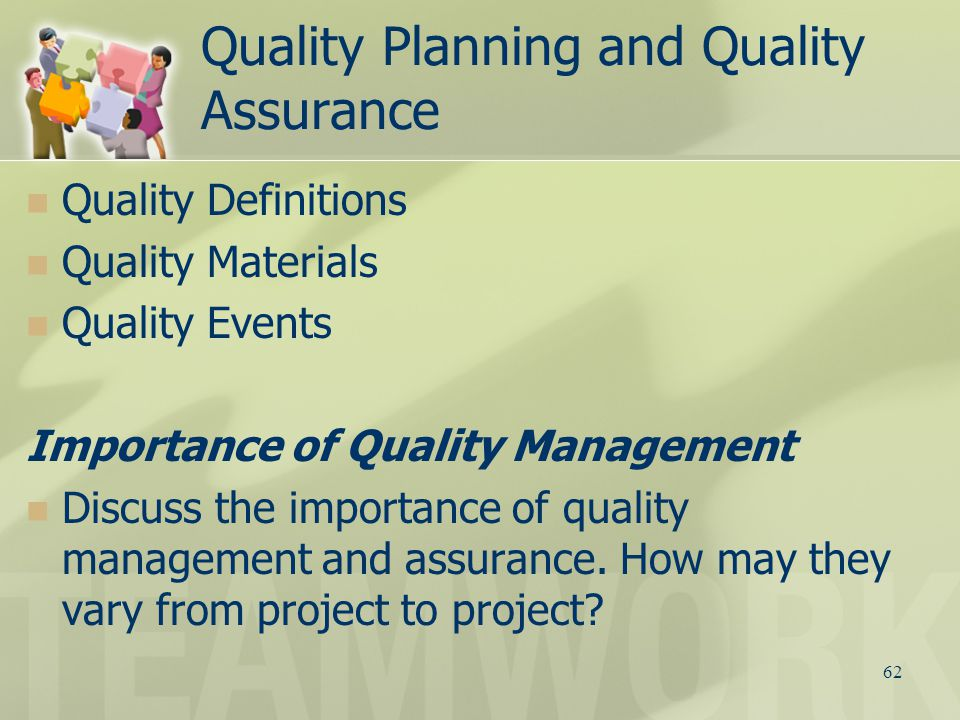 importance of effective quality management Productivity improvement: operation management is the important activity of management if its works proper and perform its duty in a.
