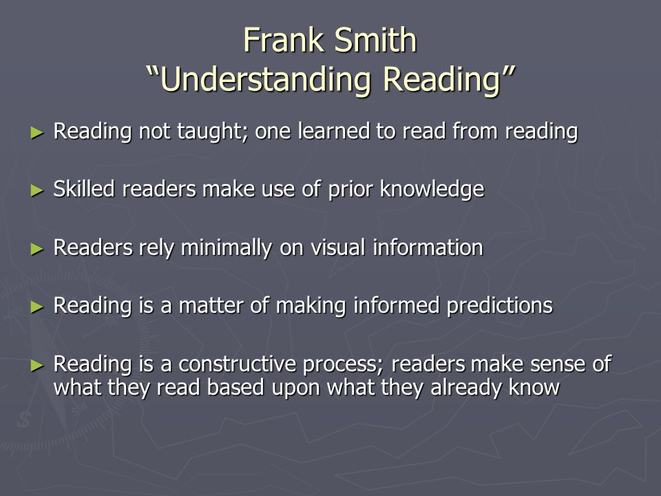 Frank Smith Understanding Reading