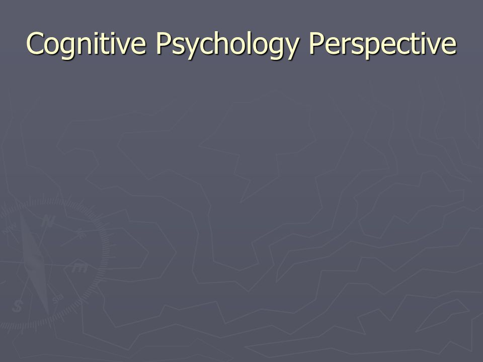 Cognitive Psychology Perspective