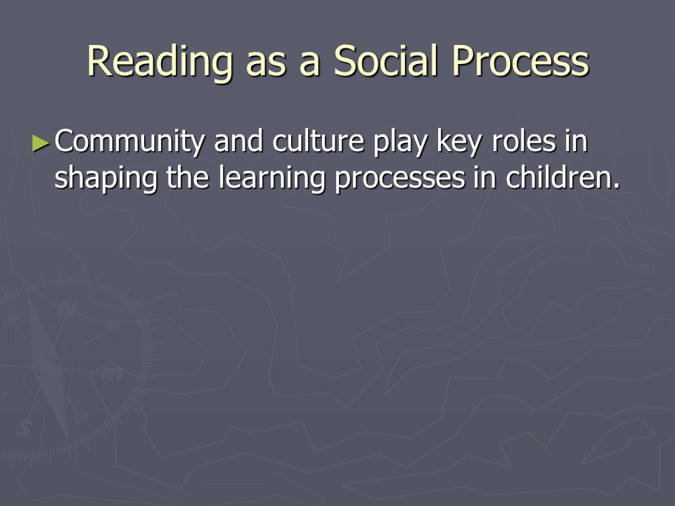 Reading as a Social Process