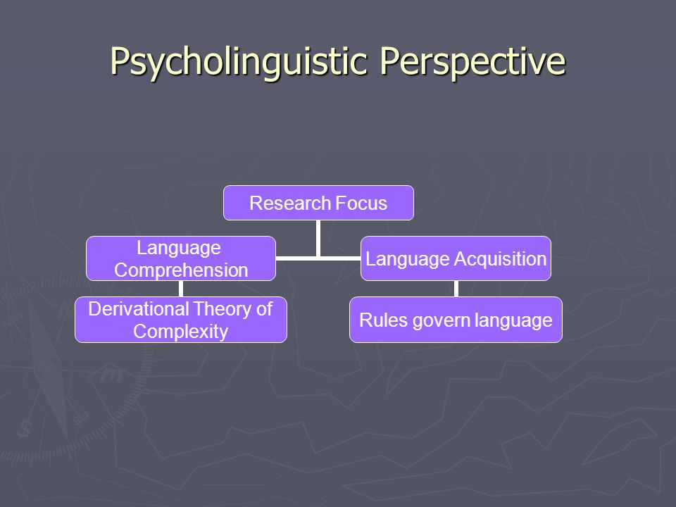 Psycholinguistic Perspective