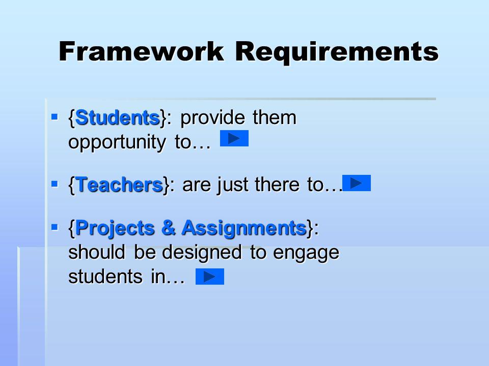 Framework Requirements