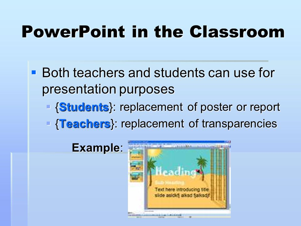 PowerPoint in the Classroom
