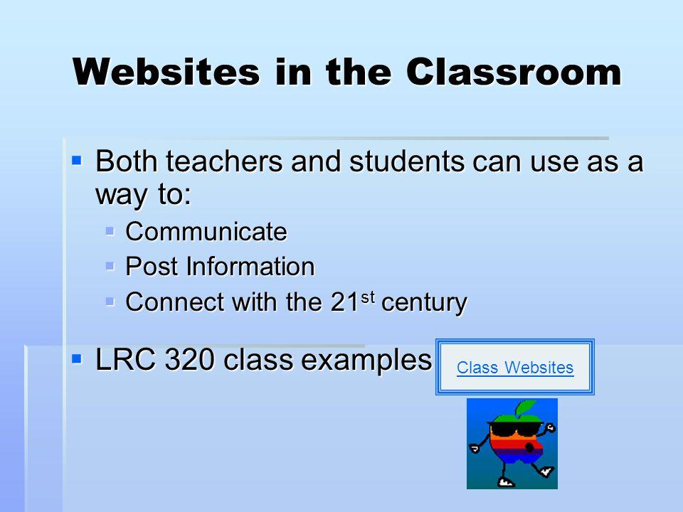 Websites in the Classroom