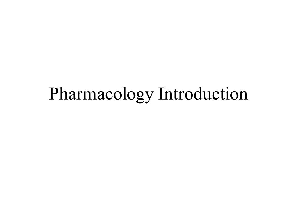 introduction to pharmacology Review this book does have strengths, it highlights where herbal remedies may  counteract with pharmacologically prescribed drugs as many patients are.