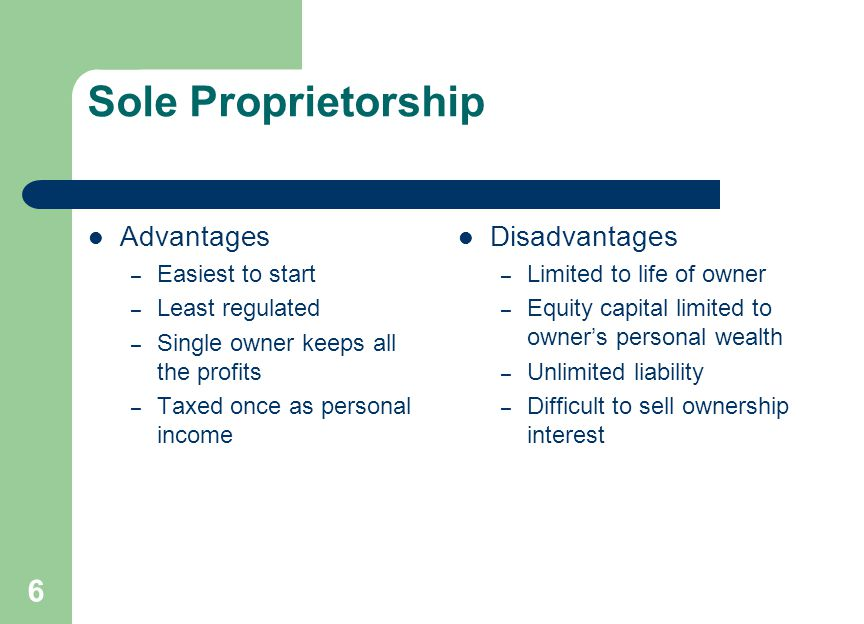 Partnership Advantages Disadvantages Two or more owners