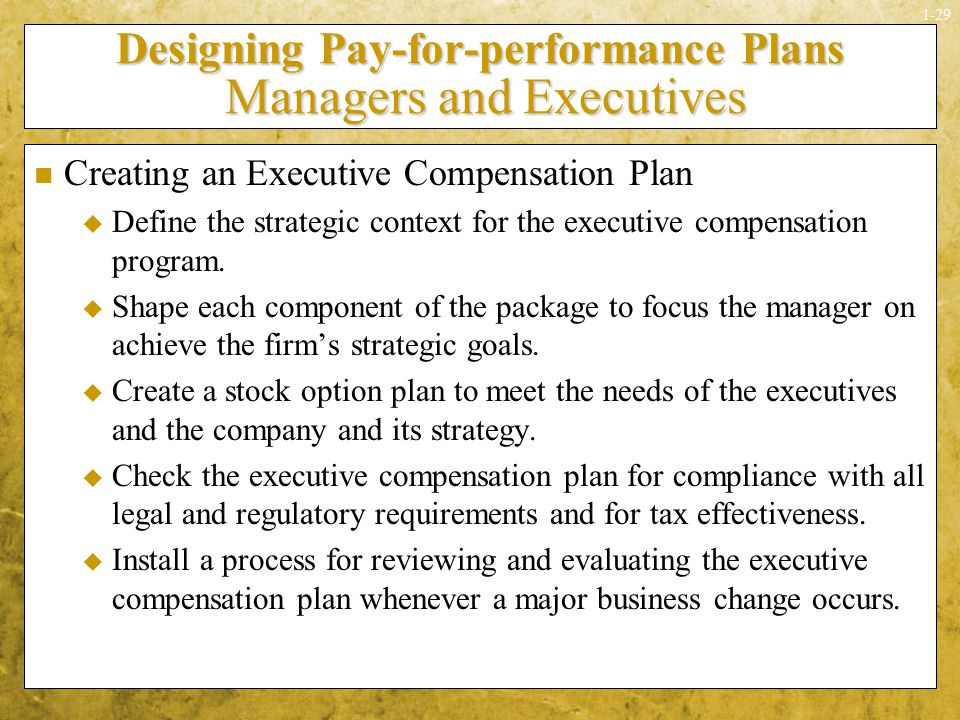 performance management and executive compensation essay Read this essay on compensation and performance management come browse our large digital warehouse of free sample essays  1710 pay equity 1711 executive compensation 1712 compensation trends 1713 wage structure in india 1714 case study 1715 summary 1716 self-assessment questions 1717 further readings 171 22 introduction one of the.
