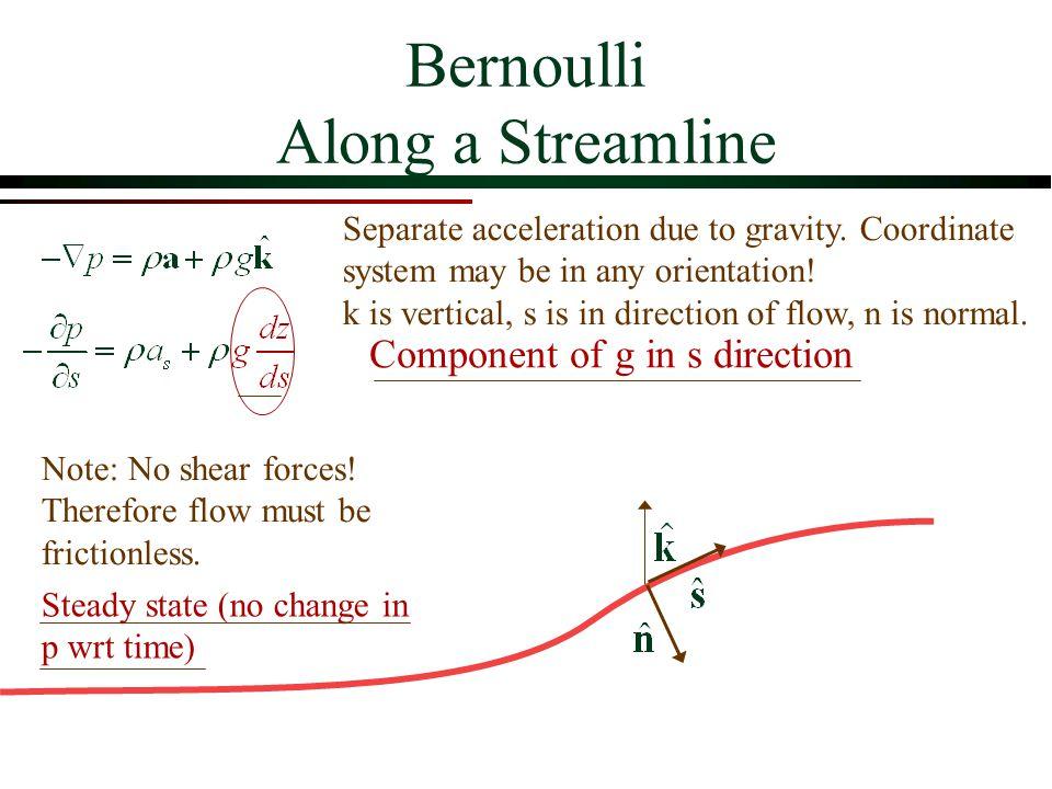 bernoulli equation fluid mechanics. elementary fluid dynamics: the bernoulli equation. 2 along a streamline equation mechanics g
