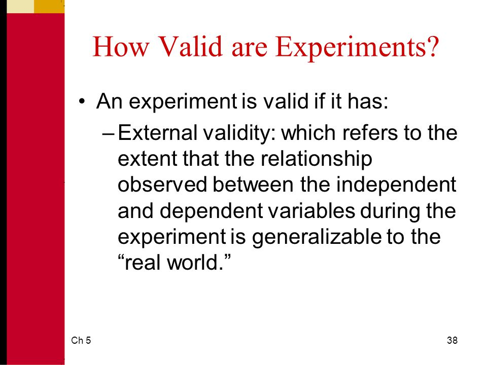 how to tell if a study has external validity