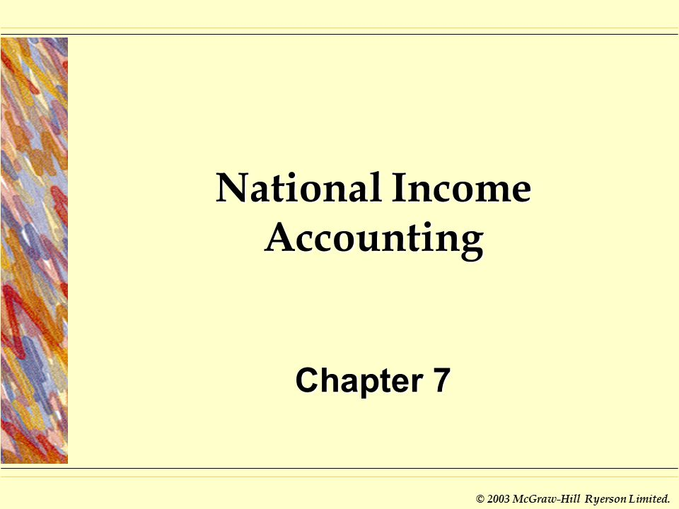 what is the use of national income accounting