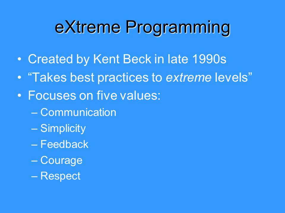 extreme programming kent beck pdf