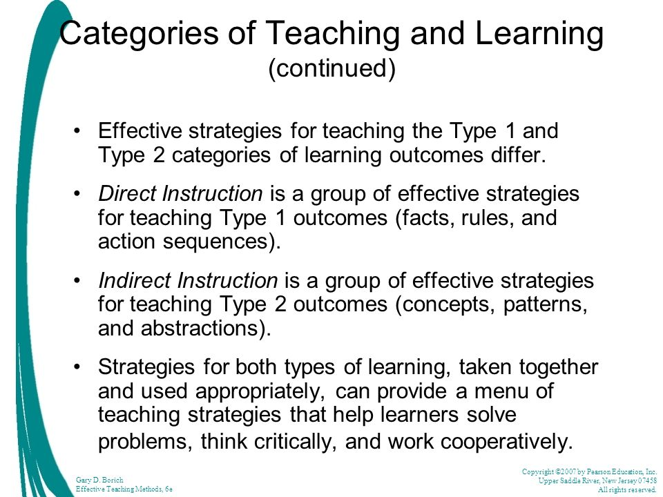 the different types of teacher and the use of different teaching methods