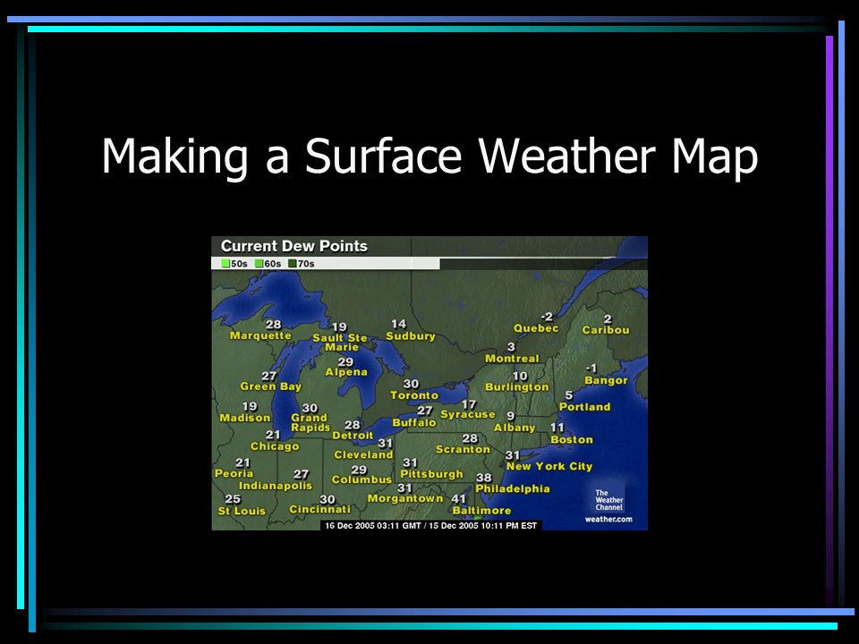 Making a Surface Weather Map