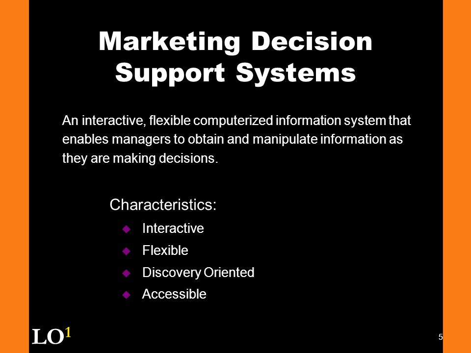 marketing decision support system case study Decision support systems  it is essential to clarify the relationship and difference between marketing research and marketing information system  case study.