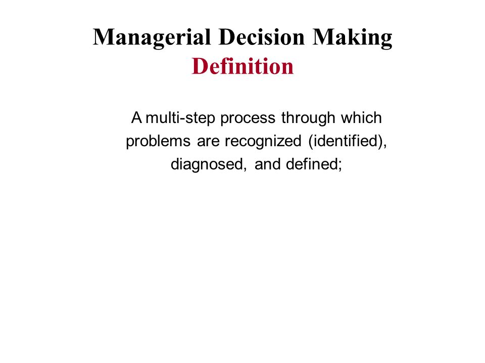 applied managerial decision making Business & management decision sciences journal of behavioral decision making journal tools get new content alerts get.