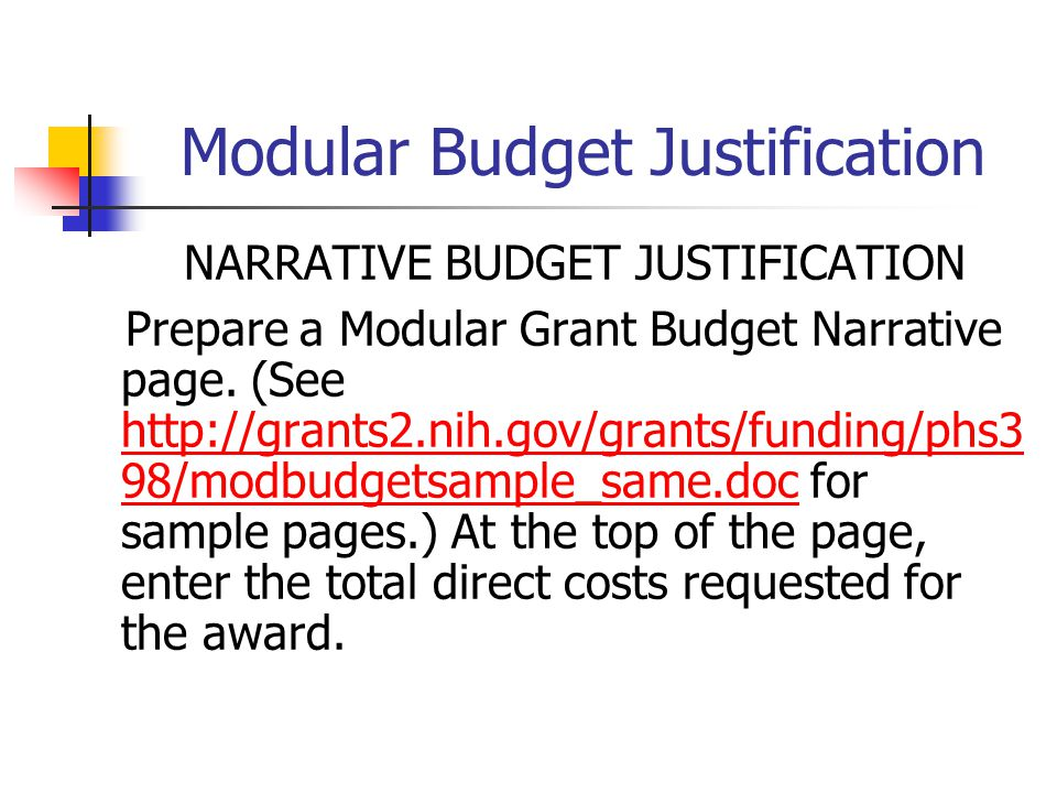budget justification template - preparing grant applications ppt video online download