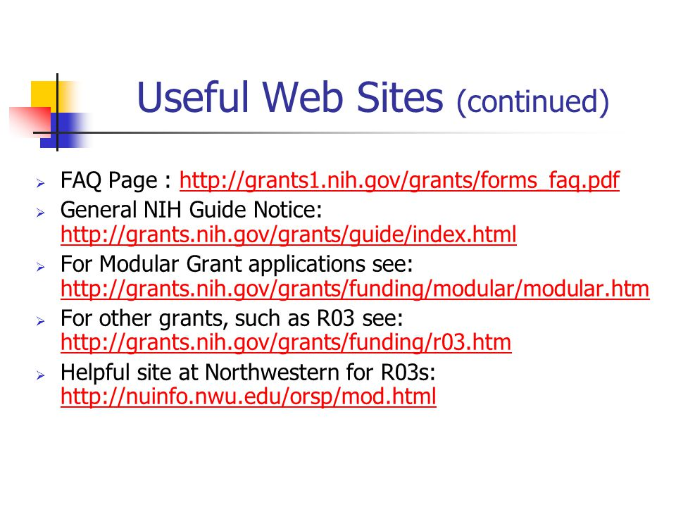 Useful Web Sites (continued)