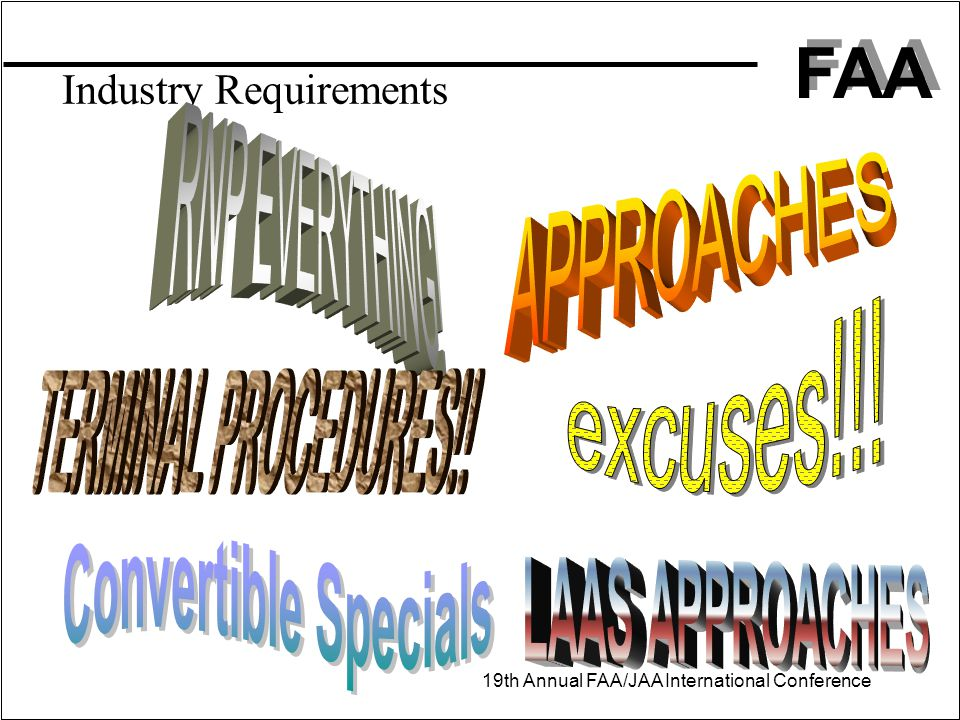Industry Requirements