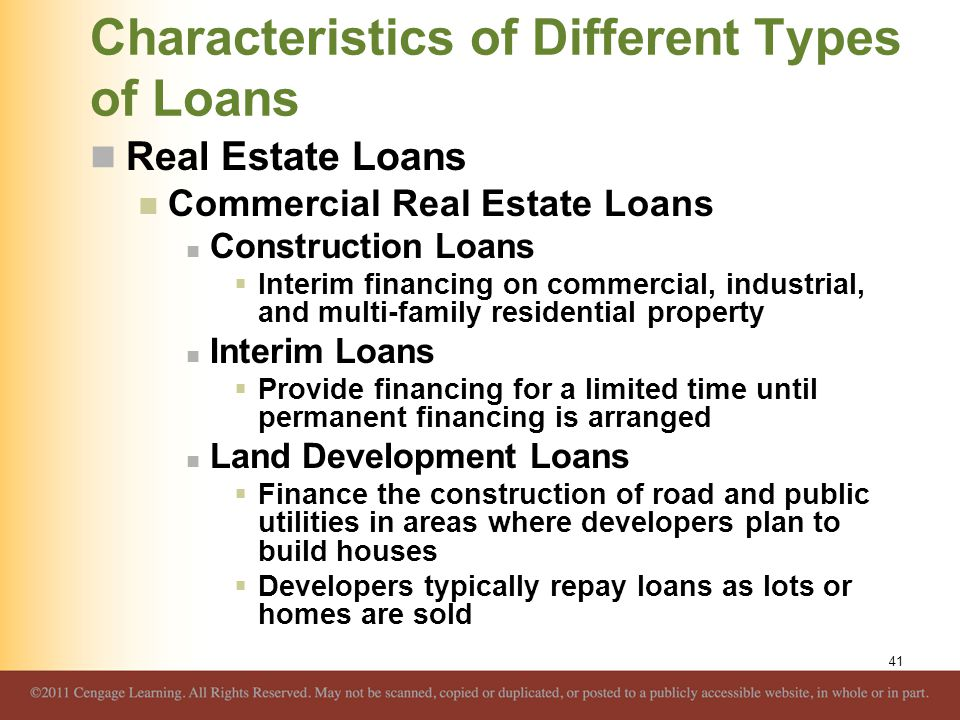 Real Estate Development Finance : Overview of credit policy and loan characteristics ppt