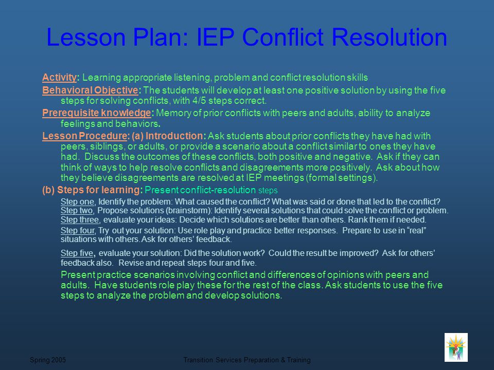 conflict resolution action plan response tosha
