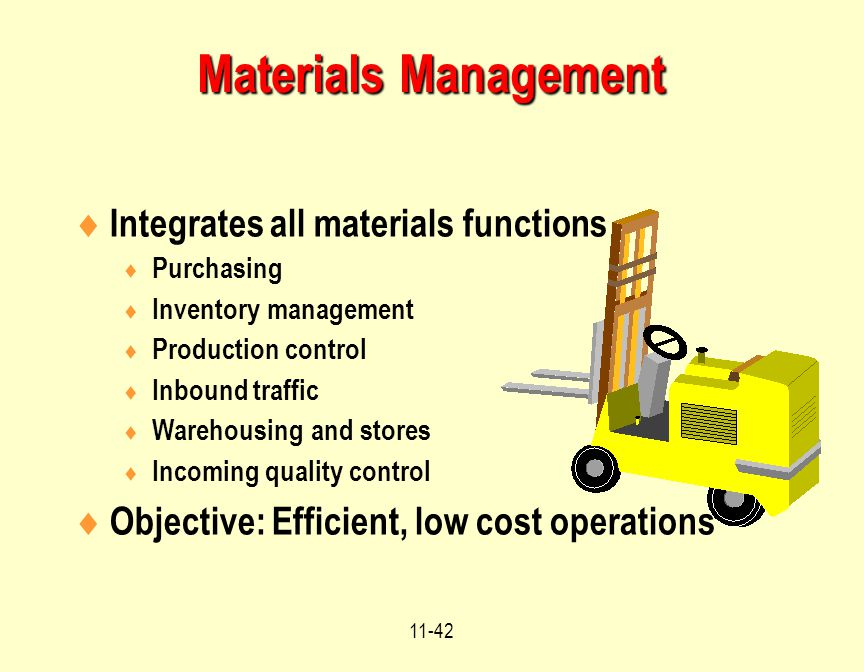 operations and materials management Institute for supply management (ism) is the first and largest not-for-profit professional supply management organization worldwide founded in 1915, ism has over.