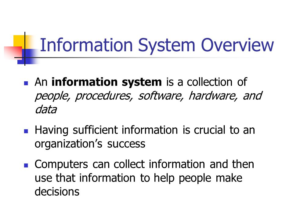 management information system to help managers Computer and information systems managers, often called information  they  help determine the information technology goals of an organization and are.