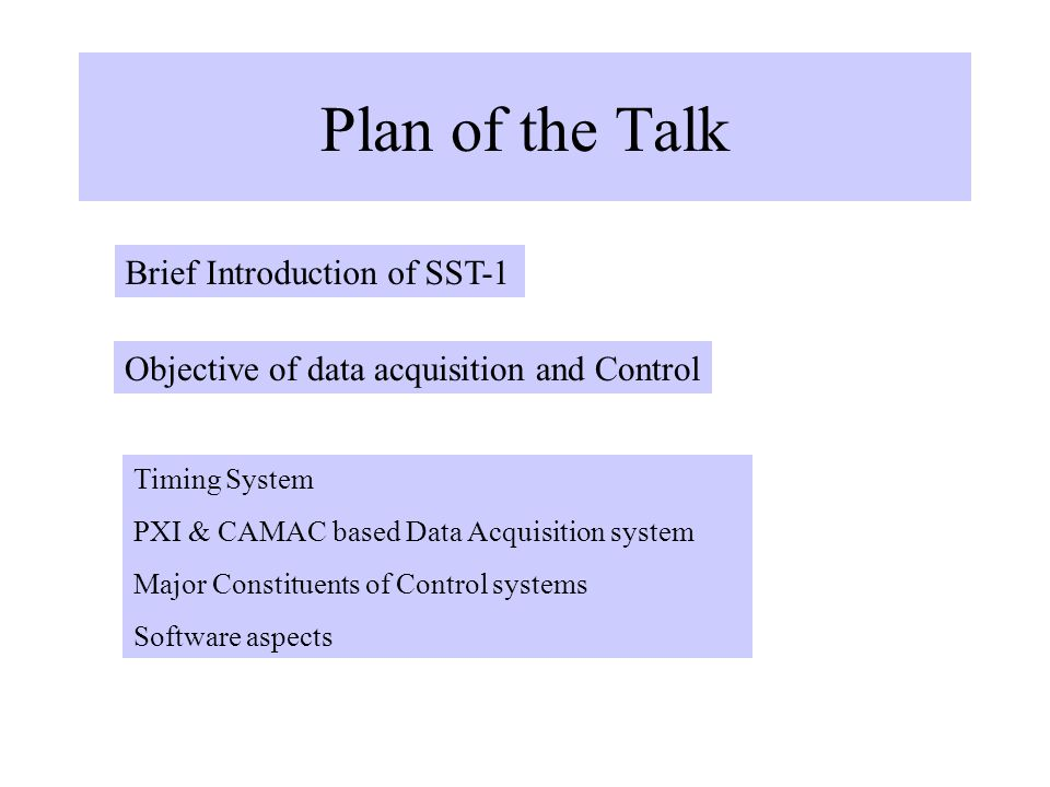 Data Acquisition And Control : Sst data acquisition control ppt download