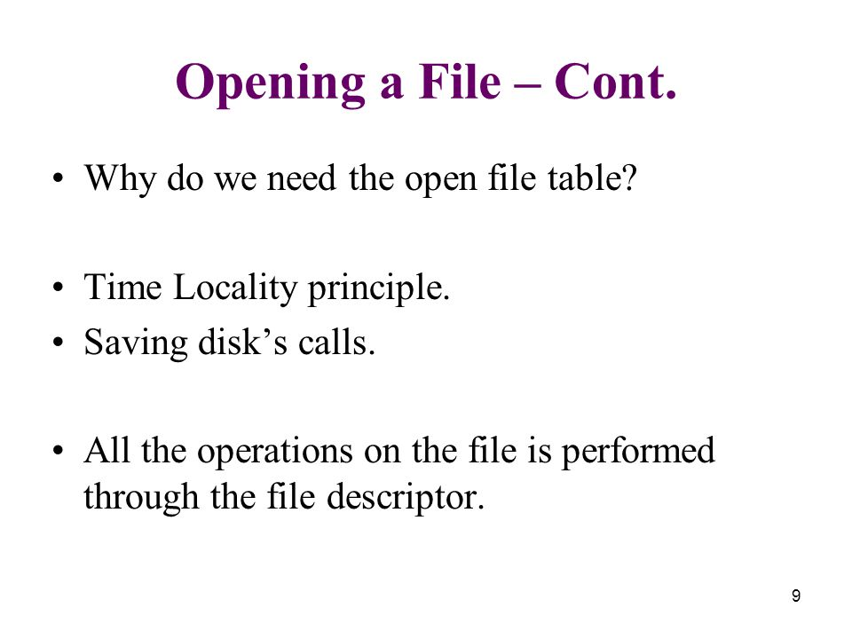 File operations open
