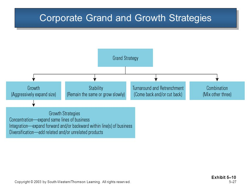 Corporate Grand and Growth Strategies