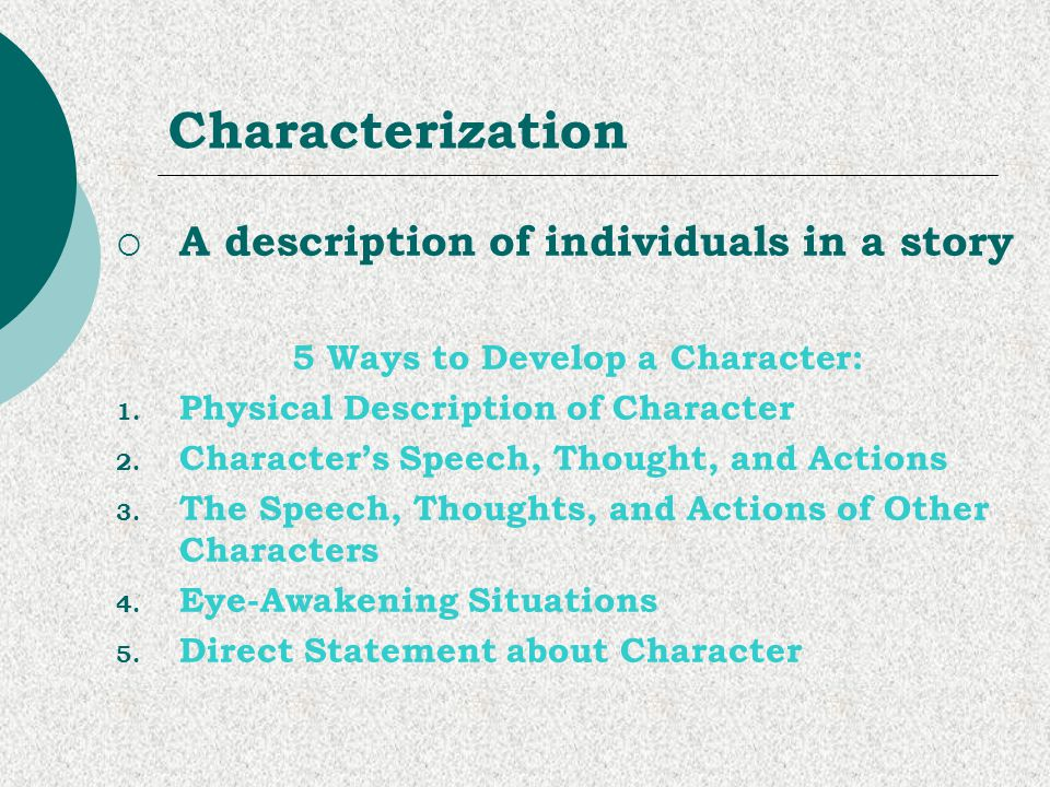 5 Ways to Develop a Character: