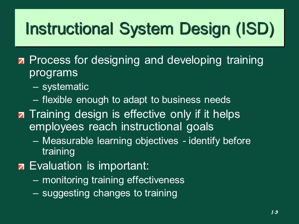 instructional system design